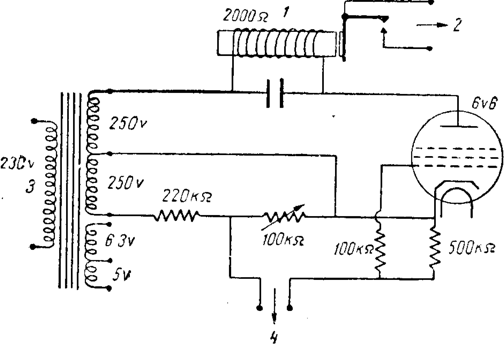 Схема электронного реле и